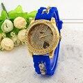 Relojes de las mujeres reloj de la manera 2016 de lujo relogio feminino reloj mujer reloj de cuarzo correa de silicona de moda reloj Ocasional