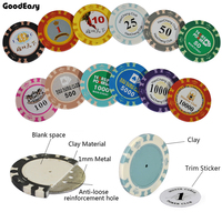 Customize Ceramic Poker Chip With High Quality Design Logo And Denomination By Yourself Anti Fake Chips