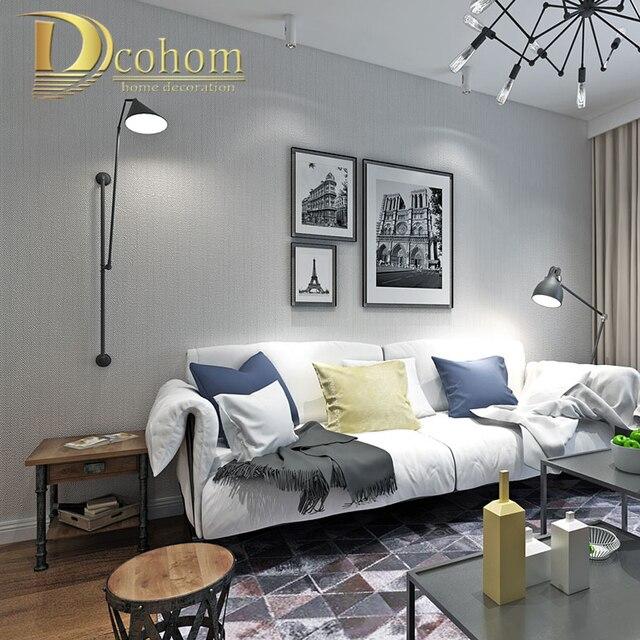 Modern Simple Solid Color Textured 3D Wallpaper For Walls Bedroom Living Room Sofa TV Background Light