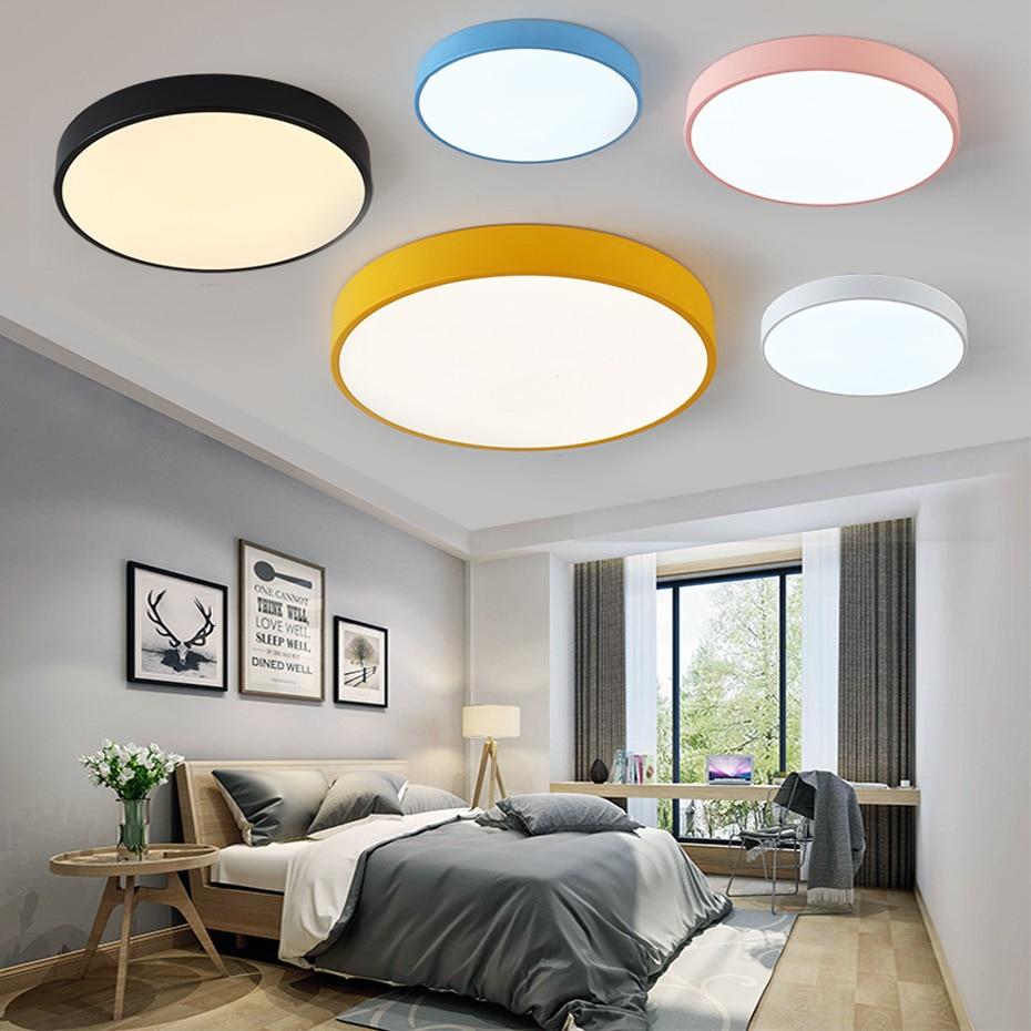 Lámpara de techo LED redonda moderna ultra fina 5cm