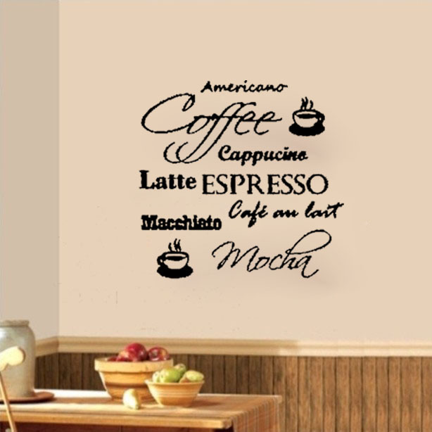 Coffee Cafe Cappucino Latte Mocha Wall Decals Vinyl Stickers Home