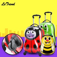 Cartoon 18 Rolling Luggage+Backpack 3D Animals Children Suitcase Travel Suitcase With Wheels Custom Laser Engraving