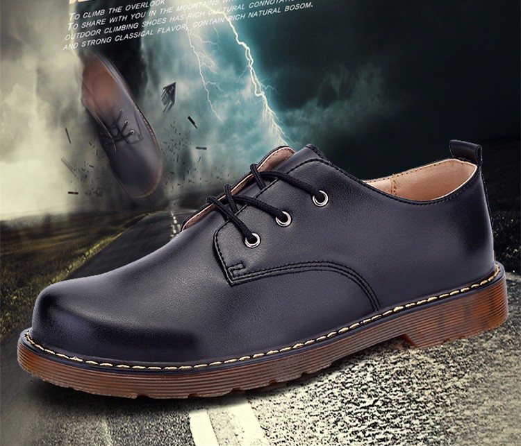 KUYUPP Fashion England Genuine Leather Shoes Women And Men Flats Oxfords Casual Lace Up Ladies Shoes Round Toe Men Loafers PX128 (7)