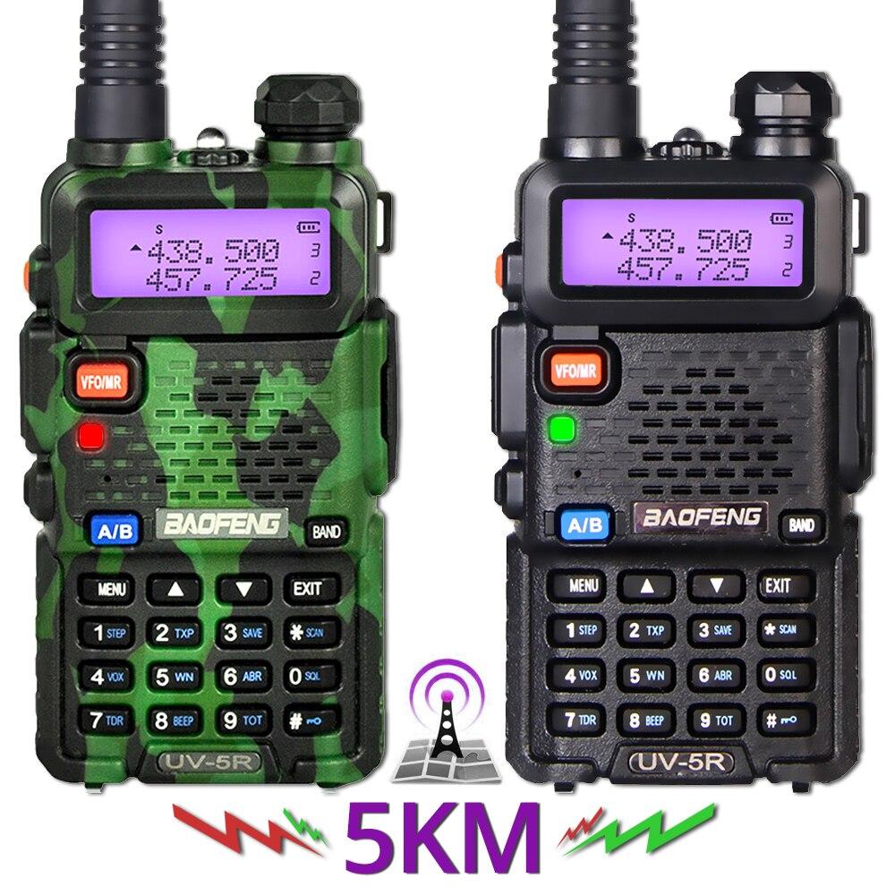 2Pcs Baofeng UV 5R Walkie Talkie UV5R CB Radio Station 5W 128CH VHF UHF Dual Band UV 5R Two Way Radio for Hunting Ham Radios-in Walkie Talkie from Cellphones & Telecommunications    1