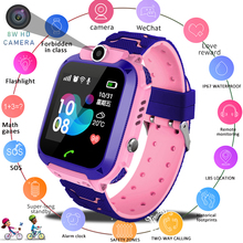 цена LIGE New Smart Watch LBS Children Smart Watch SOS Call Location Finder Locator Tracker Antilost Children Baby Watch Kids Watch онлайн в 2017 году