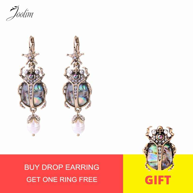 JOOLIM Vintage Star Insect Earring Cool Beetle Statement Earring Wholesale Drop Shipping