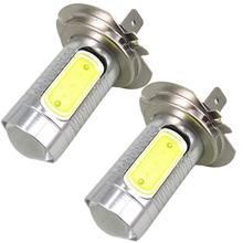 WLJH 2pcs High Power 7.5W H7 led Bulb COB Light Led Car Light Source Low Beam Headlight Lamp Fog Driving DRL Light White