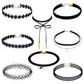 Superior 8 Pieces Choker Set Stretch Velvet Classic Gothic Women Girls Tattoo Lace Choker Watch Hot Sale Oct 14
