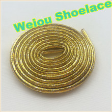 Hot Weiou Gold/Silver rope laces Flashing Shoelaces Glitter shoe laces for dresses shoes 125cm/49""