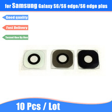 10Pcs For Samsung Galaxy S6 G920 S6 edge G925 Back Rear Camera Lens Glass Cover Ring with Adhesive Glue
