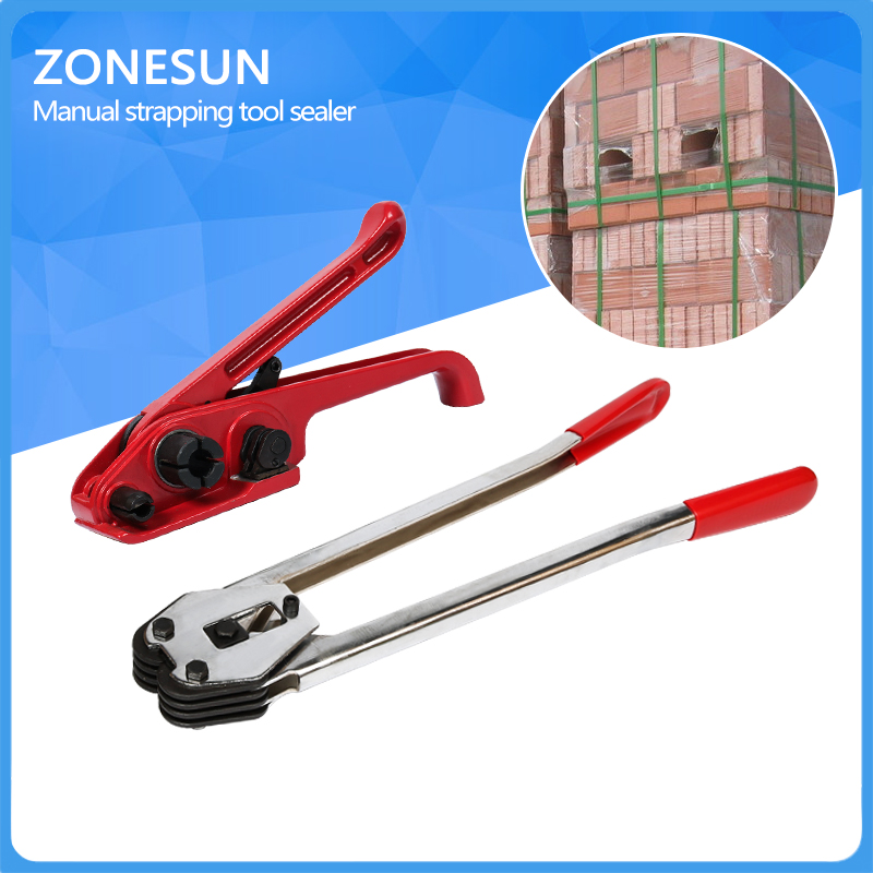 ZONESUN Manual Polyester strapping sealer and tensioner,Hand combination tools
