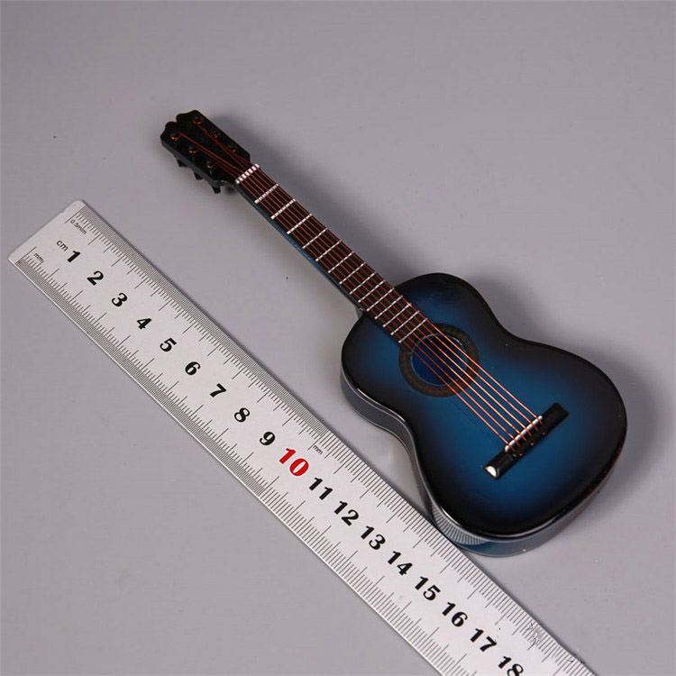 1//6 Scale Mini Guitar Model for 12/'/' Action Figure Toy for Music Room Brown