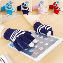 Warm Woolen Gloves Mobile Phone Touch Screen Gloves 5 Pairs/Lot Winter Windproof Gloves