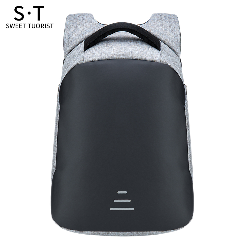 15.6 Inch Laptop Backpack USB Bag Waterproof Travel Pack 1913 Men Zipper Pack Male Cool Reflective Anti-Theft School Bags