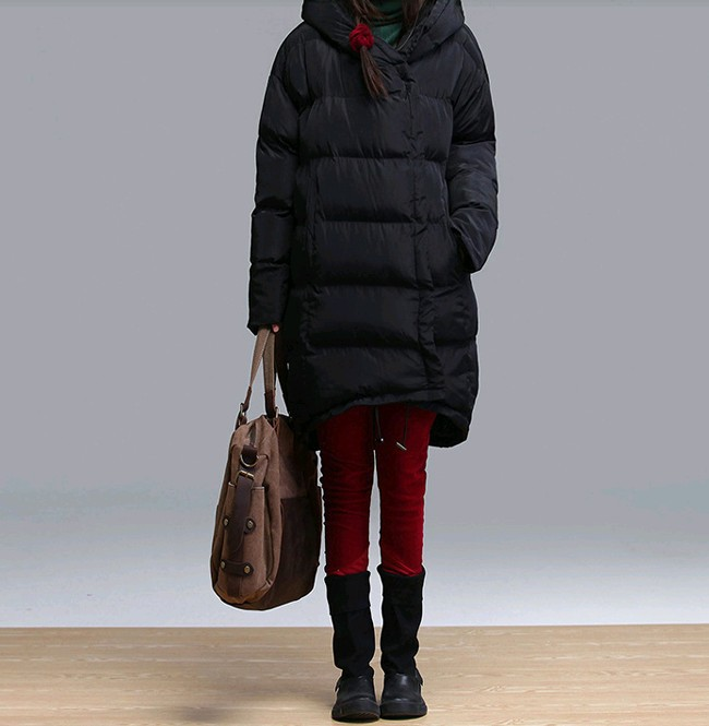 Online Buy Wholesale black long quilted coat from China black long