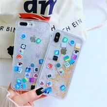 Quicksand Capinha For iPhone 7 7Plus 8 8Plus 6 6s 6Plus Dynamic Liquid Hard PC Case Cover X Xs Max Xr Capa ipone