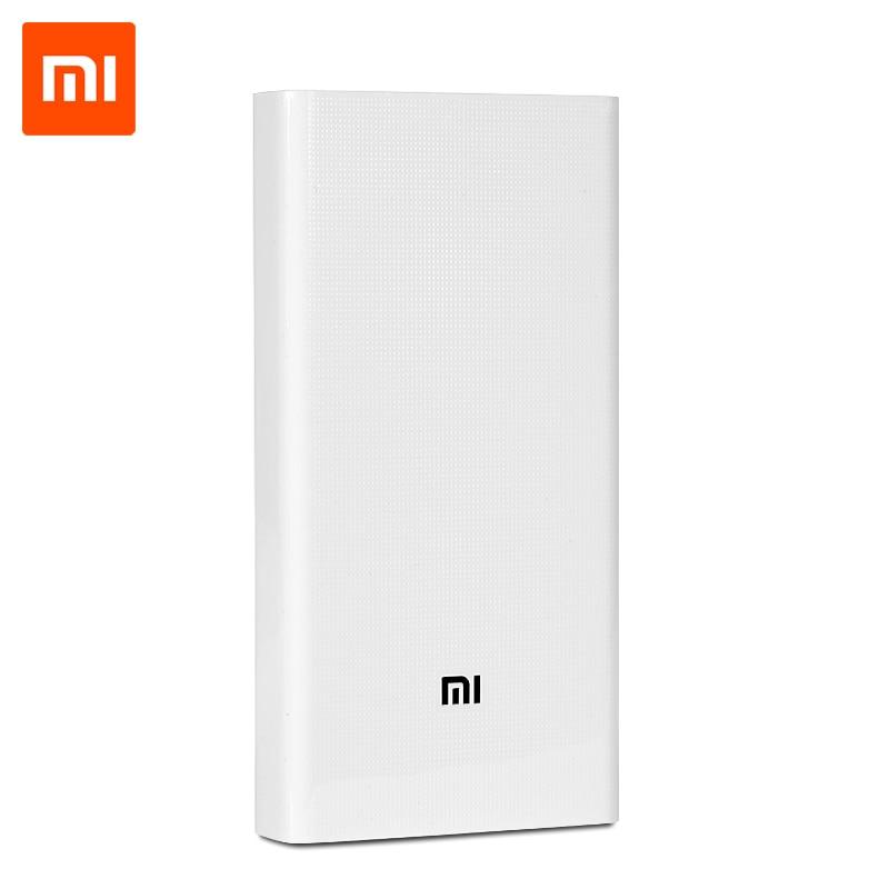 100% D'origine Xiaomi Puissance Banque 20000 mah Portable Chargeur Mi Externe Batterie Banque 20000 deux-façon Rapide Charge double usb