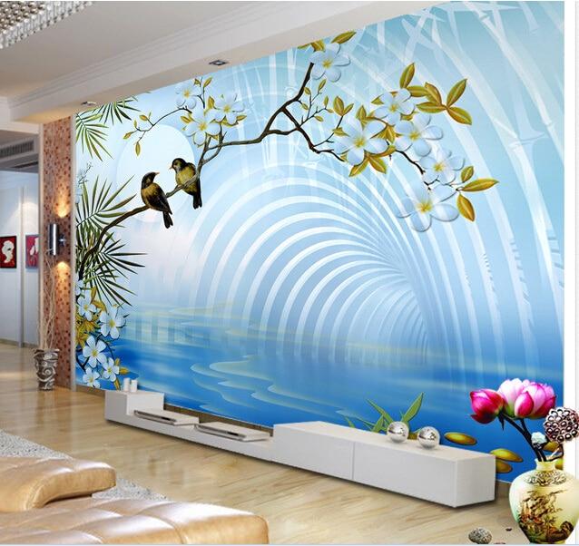 3d wallpaper custom mural non woven wall sticker 3d space down love