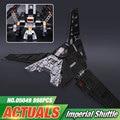 Nova lepin 05049 serie star el imperial shuttle building blocks juguetes de los ladrillos compatible con 75156