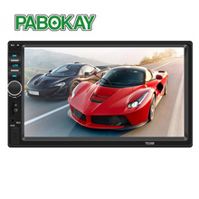 FS 2 Din Car Video Player 7 inch Touch Screen Multimedia player MP5 Player USB FM Bluetooth With Rear View Camera 7018B vehemo hd 1080p 2din mp5 player multimedia player with rear camera premium quality fm aux car kit video player