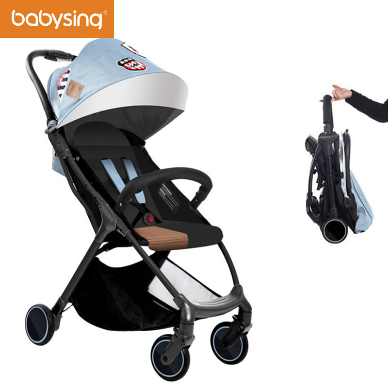 Babysing Baby Stroller Portable Lightweight Travel Strollers Easy Carry Foldable Umbrella Pram Baby Carriage with 5 Free Gifts 2016 portable light easy carry fashion children baby stroller four wheels foldable stroller carry bag 4 color for 0 36 month