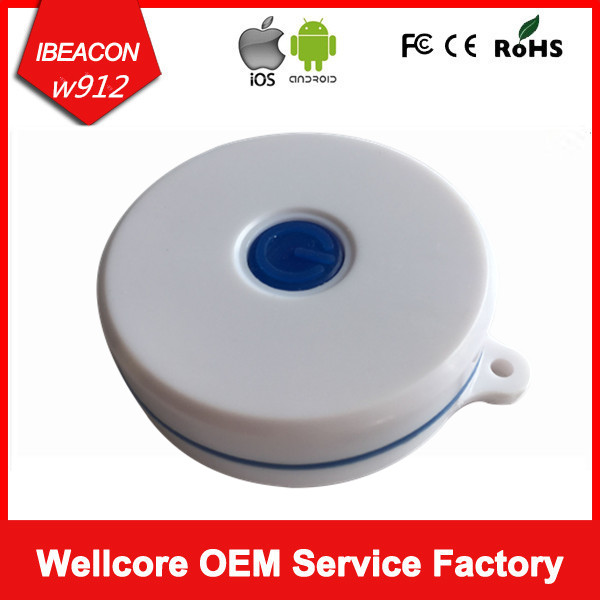 Smart Waterproof Ibeacon Tag Bluetooth Low Energy Ble 4 0 Beacon With CR2477 Battery