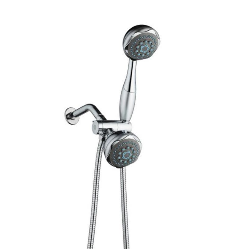 High Pressure Bathroom Shower Head Double Heads Hand Held ...