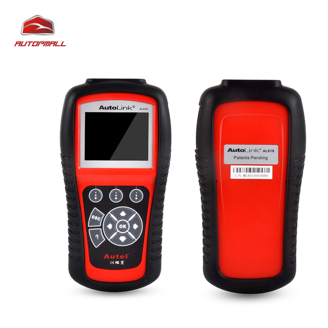 Autel Car Diagnostic Tool AL619 ABS/SRS System Diagnosis Turn off Check Engine Light Clears Codes Resets Monitors