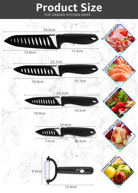 Bright Ceramic Knives Set