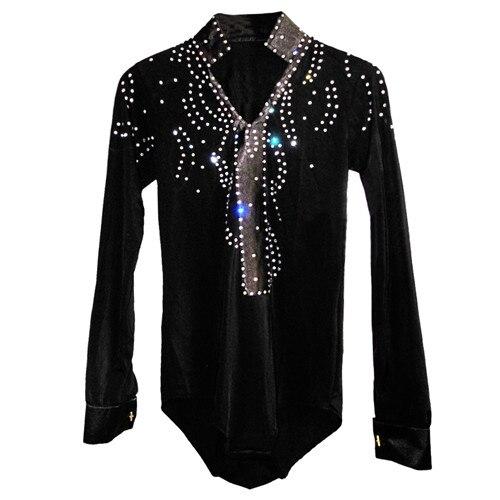 2018 New Arrival boys Ballroom Dance Tops Long Sleeve Latin Shirts boy Dance Shirt Jazz/Waltz/Tango Dancewear child Latin Dance