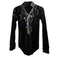 2018 New Arrival boys Ballroom Dance Tops Long Sleeve Latin Shirts boy Dance Shirt Jazz/Waltz/Tango Dancewear child Latin Dance