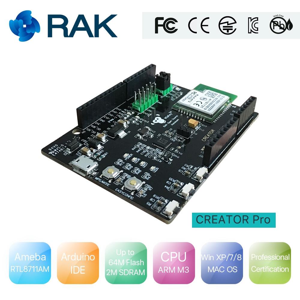 Creator Pro Open Source Hardware RTL8711AM Arduino UNO Ameba IoT WiFi Board Kit Compatible Support Arduino IDE NodeMCU Realtek87