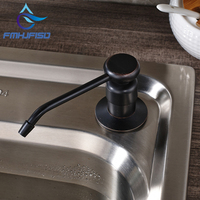 Free Shipping Kitchen Soap Dispenser 220ML Oil Rubbed Bronze Brass Liquid Dispenser