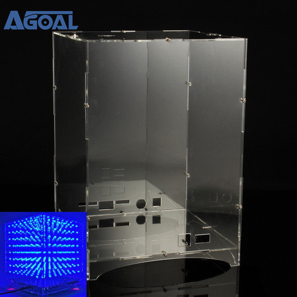 Commercial Lighting 2019 New Style Claite 8x8x8 Led Light Cube Kit Shell Case 3d Led Diy Wifi App Electronic Suite 512 Led Acrylic Case Music Spectrum