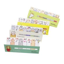 1 Pack/lot Bookmark Mini lovely Cartoon Stick Marker Notes Cute Cat Memo Pad Reminder Notes For School Office Supplies(China)