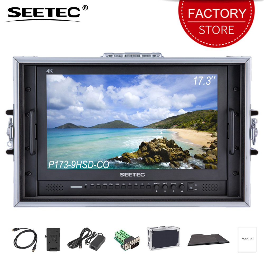 SEETEC P173-9HSD-CO 4 K HDMI 3G SDI Portare Avanti Direttore Trasmissione Monitor Full HD 1920x1080 Design In Alluminio con YPbPr Video Audio