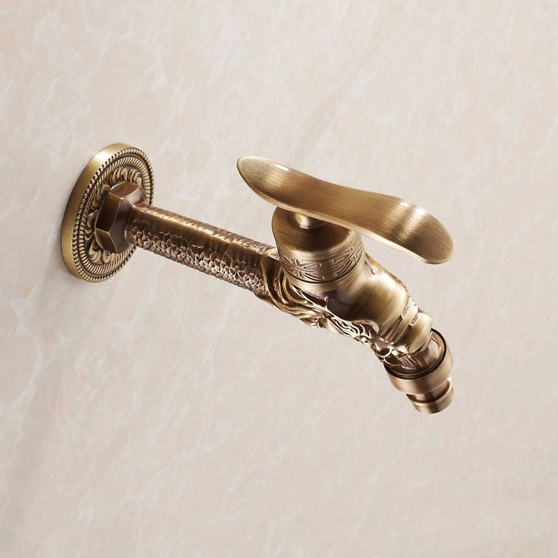 1Pc Antique Bronze Dragon Carved Tap Animal Shape Faucet Garden Bibcock Bathroom
