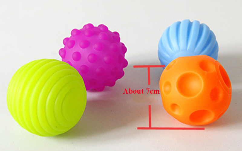 Children Ball Hand Sensory Baby Toy Rubber Textured Multi Tactile Senses Touch Toys Baby Training Massage Soft Balls #2