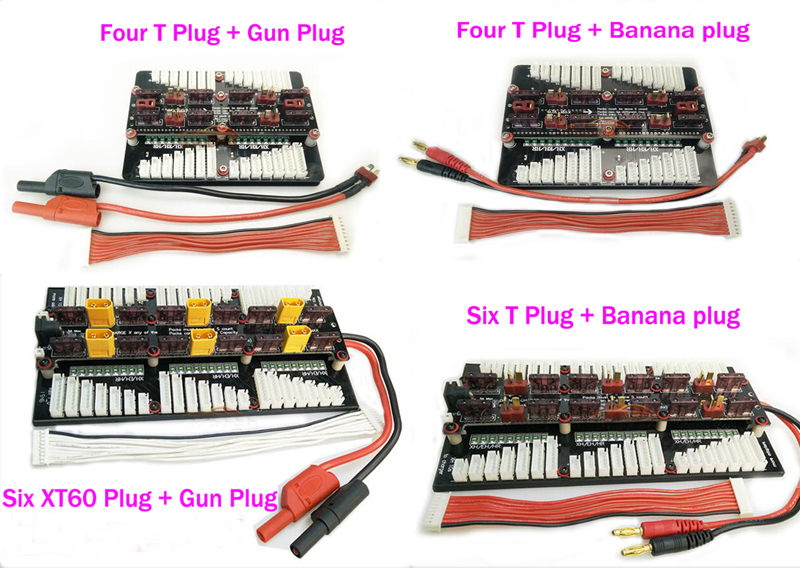 XT60 T Plug 2-8S Lipo battery parallel charging board balanced plate   panel support PL6 PL8 0720I 1420I X6 B6 and other charger