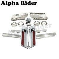 Hard Saddle Bag Saddlebag Latch Cover Reflector w/ Lock Key for Harley Touring Street Electra Glide Road King FLT FLH 1993 2013