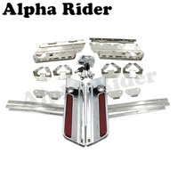 Hard Saddle Bag Saddlebag Latch Cover Reflector W Lock Key For Harley Touring Street Electra Glide