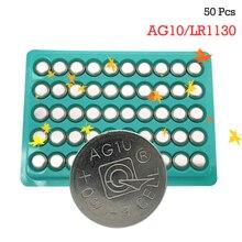 50 x G10 Button Batteries AG10 LR1130 1130 SR1130 389A LR54 L1131 189 75mAh Capacity 1.5V Battery