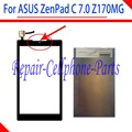 Negro 100% nueva digitalizador de pantalla táctil + lcd de repuesto para asus zenpad c 7.0 z170mg envío gratis