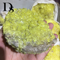 AAAA+++ 400g Natural Yellow Particles Quartz Crystal Gemstone Mineral Specimens Reiki Energy Rock Raw Specimen Crafts