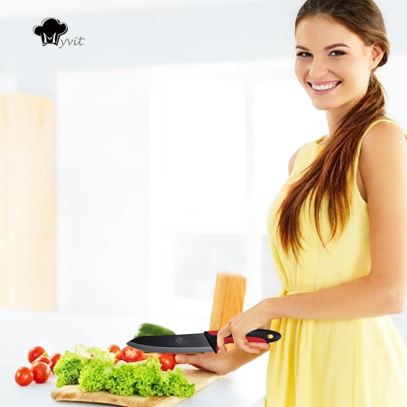 Mətbəx Seramik Bıçaq 3 4 5 6 düym + Peeler Chef Paring Utility - Mətbəx, yemək otağı və barı - Fotoqrafiya 6