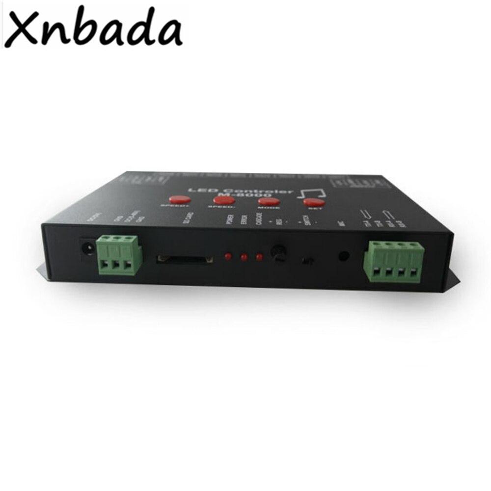 M 8000 Programable 8096Piexl Led controlador de música para WS2812B WS2812 SK6812 Led cinta de tira de luz entrada DC5V - 4