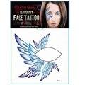 Большое крыло временные татуировки наклейки Лицо тени для век наклейки Необычные Клуба Партии маска для глаз искусство Тела макияж Taty Новогоднее украшение