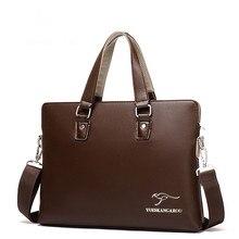 Berühmte Marke Casual Aktentasche Geschäftsmann Schulter Leder Messenger Bags Computer Laptop Handtasche herren Reisetaschen handtaschen