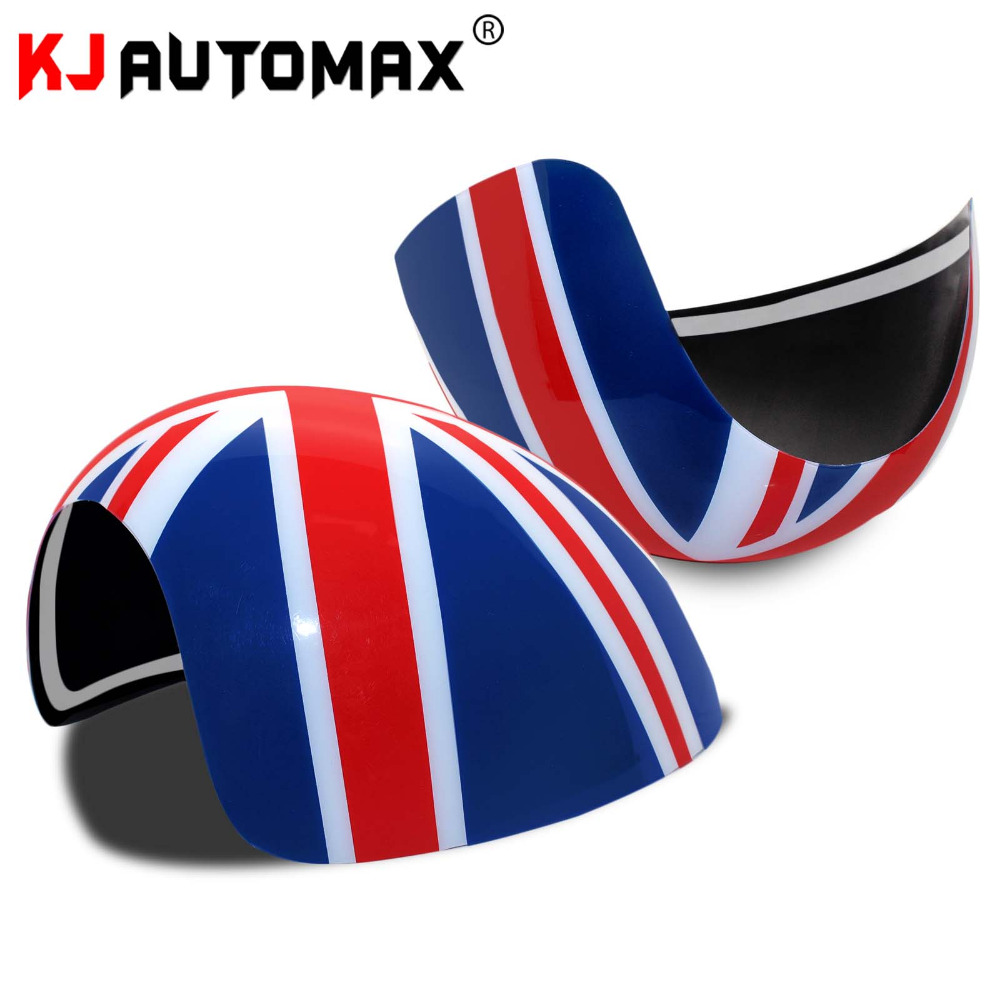 Car Styling For Mini Cooper Side Wing Mirror Cover Cap Accessories Union Jack MK1 R50 R52 R53 2000 07( for left hand drive only)