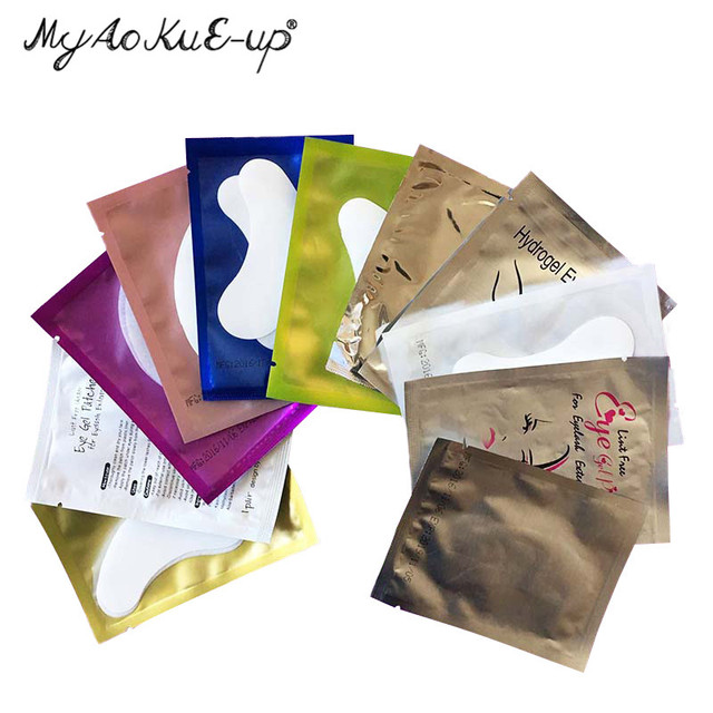 Makeup Tool 100pairs Eyelash Extension Paper Patches Grafted Eye Stickers 11 Color Eyelash Under Eye Pads Eye Gel Paper Patches